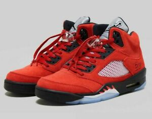 Nike Air Jordan 5 Retro Raging Bull Red Black Mens Size 9.5 Style: DD0587-600