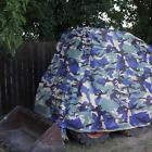Bobcat Tractor Cover Tarp Grommet - Waterproof - Heavy Duty Vinyl 16oz Blue Camo