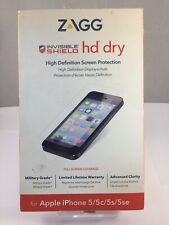 Zagg Invisible Shield Dry HD Screen Protector For Apple iPhone 5/5c/5s/SE