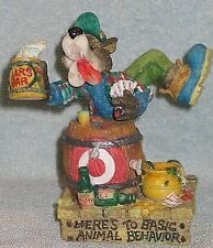 "Enesco Moose Creek Crossing ""HERE'S TO BASIC ANIMAL BEHAVIOR"" 1996 ~ BRAND NEW!"