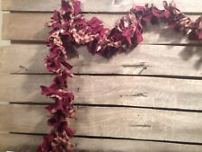 Country Primitive material Garland With Lights Farmhouse Decor