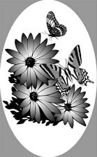"""4""""X 6"""" Sunflower static cling etched glass window decal for vehicles and home"""