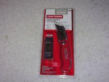 NEW SEARS Craftsman RED Metal Folding Lockback Utility Knife Includes 4 Blade