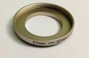 27-37 mm Step-Up Lens Filter Adapter Ring 27mm-37mm Stepping Metal 27-37 27mm-37