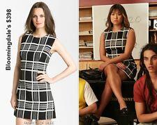 Rachel Roy Gorgeous Retro Plaid Mini Dress Designer Fashion Sheath 12 NWT $398