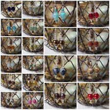 Petite Drop Earrings Glass Pearl, Czech Crystal or Gemstone - Sterling Option