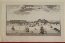MALACCA CITY MALAYSIA 1748 BELLIN & VAN SCHLEY ANTIQUE  COPPER  ENGRAVED VIEW
