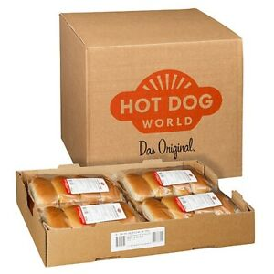 HOT DOG WORLD - Hot Dog Brötchen 192 Stück, vorgeschnitten