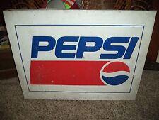 Vintage Metal Pepsi Wall Sign Soda Advertising Decor