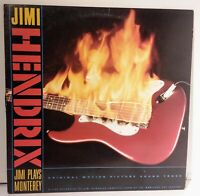 Jimi Hendrix Jimi Plays Monterey LP Vinyl Reprise Records 1986 Soundtrack