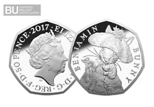 Beatrix Potter - Benjamin Bunny 2017 - 50p Coin -New BU Uncirculated Condition
