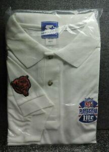 Starter NFL Chicago Bears Football Lite Beer Shirt Adult XL White Mint Package