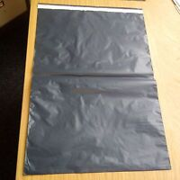 """250X GREY PLASTIC MAILING POSTAGE PARCEL BAGS-10x14"""" Strong Self Seal"""