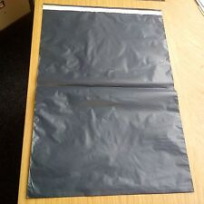 """250X GREY PLASTIC MAILING POSTAGE PARCEL BAGS-18x22"""" Strong Self Seal"""