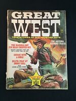 Vintage 1967 Great West True Stories of Old Frontier Days Magazine by M.F. Enter