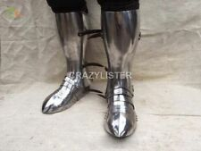 SCA LARP knights plate shin protection with sabatons foot Medieval For Halloween