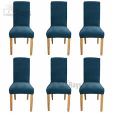 6 Pcs Super Fit Stretch Dining Chair Cover Seat Protector Slipcover Washable AU