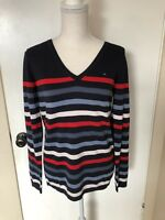 Tommy Hilfiger Women's Ivy Pullover Long Sleeve V-Neck Sweater Brand New With Ta
