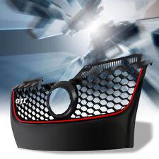 Front Upper Bumper Grille Black Red Trim Hex Mesh For VW Jetta MK5 GLI/GTI 06-09