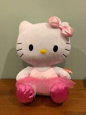 "Ty Hello Kitty Pink Tutu 11"" Stuffed Doll Plush TOY - So Cute!!"