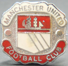 MANCHESTER UNITED Vintage Club crest type badge Brooch pin In chrome 25mm x 24mm