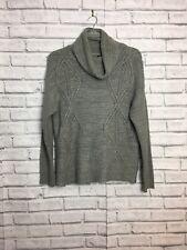 Stravidarius Gray Large Knit Jumper Large Roll Neck Size Medium Cozy Winter