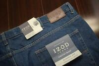 39517 New Mens Izod Classic Fit Straight Leg Blue Denim Jeans Size 52 x 32