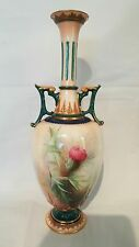 Beautiful Royal Worcester vase in the thistle design