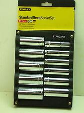 Stanley 85-726 11 piezas 1.3cm Drive Sistema de Toma Profunda (6 pt) SAE (El