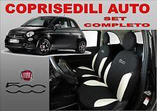 """FODERE AUTO IN COTONE COPRISEDILI NUOVA FIAT 500 SU MISURA COMPLETE MOD """"POINT"""""""