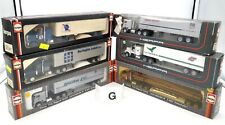 HERPA HO 1/87 LOT #G - 6 x CAMIONS US CHEVY BISON WHITE KENWORTH SEMI REMORQUES