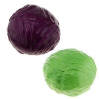 Artificial Fruit Vegetables Fake Table Desk Cabbage Prop Ornament Photo Prop