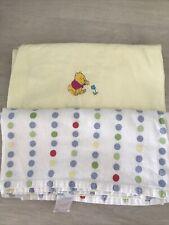 Disney Winnie The Pooh Unisex Warm Cotton Flat Cot Bed Sheets X2 Bundle (b2)