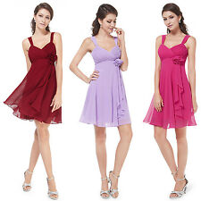 Chiffon Short Mini Bridesmaid Wedding Cocktail Prom Party Dress Homecoming 03266