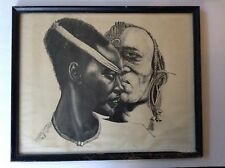 DRAWING MADE FOR BETTY SHABAZZ -MALCOLM X WIFE ,Civil Rights Leader