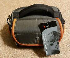 Foray Sport Collection Rugged Camera case, Charcoal grey w/burmt orange trim