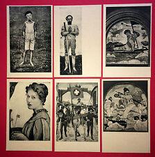 6 x Künstler AK FERDINAND HODLER Knabe, Betender Krieger, Rückzug   ( 9634
