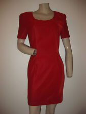 Vintage 80s Red Velvet Holiday Bombshell Cocktail Party Dress Xs/S
