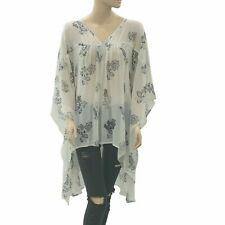 Abercrombie & Fitch Floral Printed Tunic Top Kaftan Kimono Sheer S 1 NWD 193511
