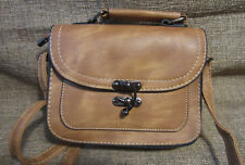 Cross Body Faux Leather Convertible Messenger Hand Bag Shoulder Bag Adj Strap