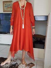 très jolie robe ZARA Taille M 40/42 NEUVE couleur orange terracotta ethnique