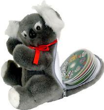 Lovely fluffy Peluche Koala Juguete Suave Estuche Para Hasta 16 Cd's Dvd's
