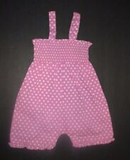 INFANT GIRLS JOJO MAMAN BABY LAVENDER POLKA DOT SMOCKED JUMPSUIT OUTFIT SZ 0-3 M