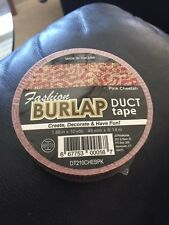 "Fashion Burlap Duct Tape Pink Cheetah 1.88"" x 10yds New!!!"