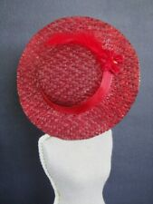 Boater Red for Doll Size Bleuette Tour of Head 17-19cm (CAB146) -france