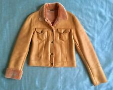 Manzari Shearling Trucker Jacket made in italy w/spanish shearling super soft M