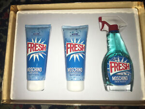 Moschino Fresh Couture Perfume Gift Set - EDT Spray + Shower Gel + Body Lotion