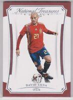 2018  National Treasures Soccer David Silva # 66 Base Card - SPAIN NATIONAL TEAM