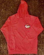 Angry Birds-Sudadera Con Capucha-Ajuste Estándar Grande. nuevo Bordado Rojo