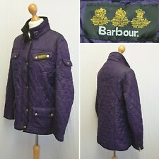 BARBOUR INTERNATIONAL PURPLE WOMENS LADIES QUILTED JACKET COAT SIZE 14